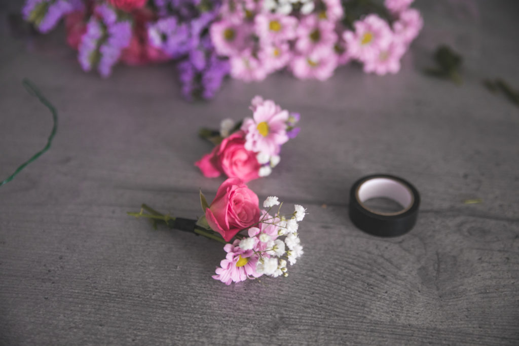 DIY couronne de fleurs fraiches - www.lesyeuxbleus.net