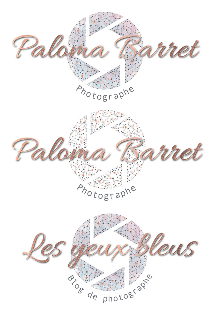 Nouveaux logos Paloma Barret - Les yeux bleus by L'atelier de Romane - www.lesyeuxbleus.net